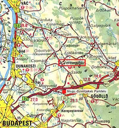 veresegyház térkép Térkép Veresegyház
